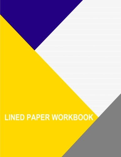 Read Online Lined Paper Workbook: Grey With Wide White Lines pdf