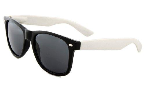 MJ Boutique's Black & White Two Tone Wayfarer Sunglasses (Hot Cop Costumes)