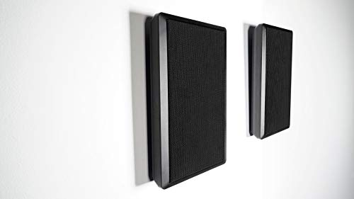 2 Rockville RockSlim Black Front+Rear Surround Sound Home Theatre Wall Speakers
