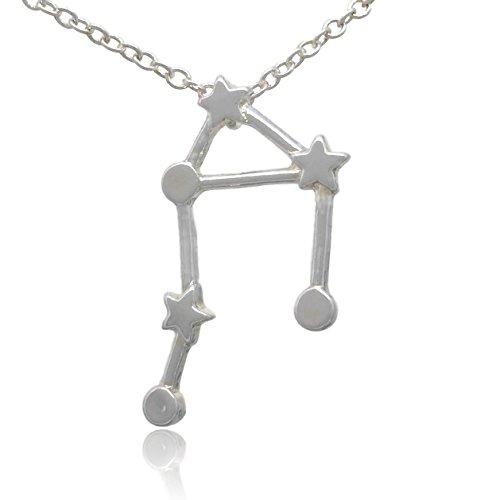 Libra Zodiac Symbols (COS (TM) Zodiac Constellation Sign Symbol Pendant Necklace (Libra Silver))