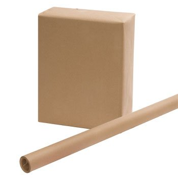 """3 ROLLS - Brown Kraft Wrapping Paper 30"""" x 15 Feet x 3, Easy Handling Wrapping Paper"""