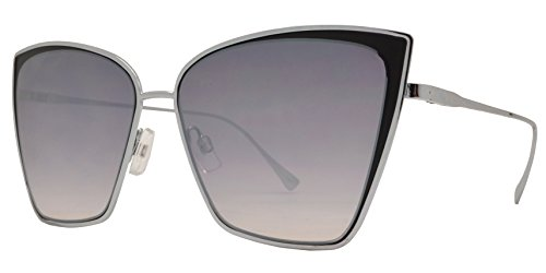 94ae823b6f77 Fashion Eyelinks - Modern Metal Boxed Cat Eye Sunglasses (Silver Frame +  Gradient Lens)