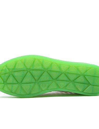 NJX/ Damenschuhe-Oxfords-Büro / Kleid / Lässig-Kunststoff-Flacher Absatz-Komfort-Blau / Grün green-us5.5 / eu36 / uk3.5 / cn35
