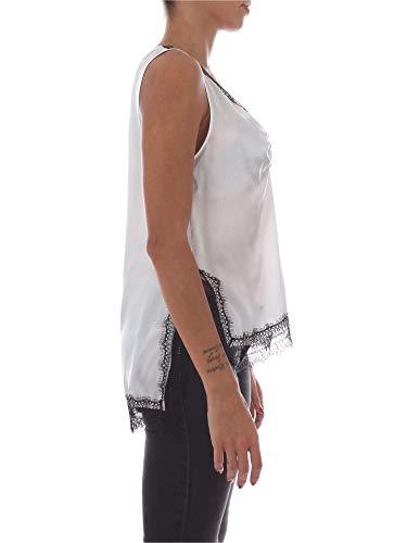 Pinko 1b13f16940white noir Femme Top Soie Blanc C1rCBS4q