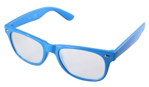 Style Wayfarer transparent Neutre Alex Verres Retro Flittner Couleur 5 Lunettes Bleu Designs Dans Hqx8UIt