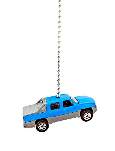 Matchbox Chevy Truck Ceiling Fan Light Pull Ornaments 1/64 Scale(2002 Blue Chevy Avalanche) ()
