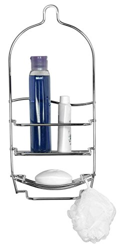 Heavy Weight Silver Chrome Plated Steel Shower Caddy with Soap Dish Hold Your Shampoos and Other Shower - Curtains Sale Debenhams
