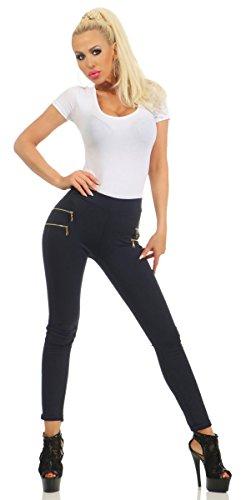 Bleu Fashion4Young Bleu 36 noir Jeans Fonc Femme XS czrCwYEzq