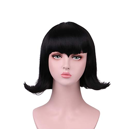 Yilys Short Black Halloween Cosplay Wig ()