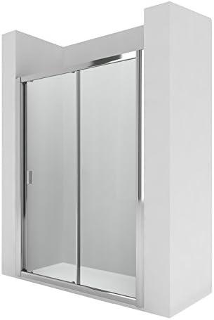 Roca AM13611012 - Mampara de ducha con una puerta corredera y un ...