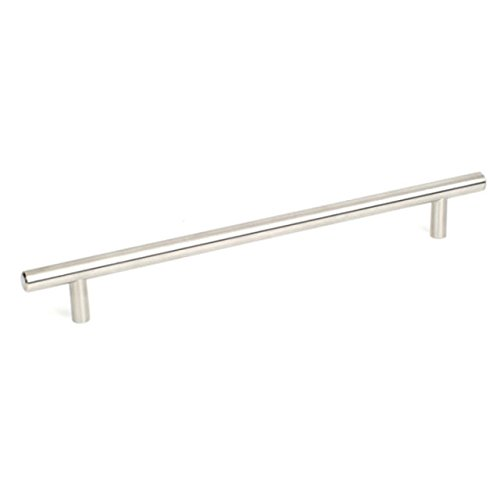 Century Premium 304 Grade Stainless Steel T-Handle Heavy Duty Kitchen Cabinet Pull, Bathroom, 224 mm c.c. 284 mm overall, 40459C-32D-Brushed Stainless Steel-Value Pack of 25