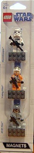 Lego Star Wars Mini Figure Exclusive Magnet 3pcs Set, At-st Pilt, Y-wing Pilot, Stormtrooper