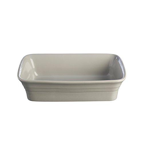 Mason Cash Classic Kitchen Rectangular Baking Dish, 10-1/2 by 7-Inches, Grey