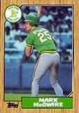 1987 Topps Mark McGwire Baseball Card #366