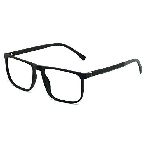 OCCI CHIARI Men Non Prescription Eyeglasses TR90 Frame with Clear Lense Eyewear ()