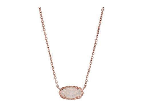 Kendra Scott Women's Elisa Pendant Necklace Rose Gold/Iridescent Drusy Necklace ()