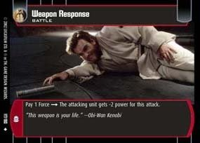 (STAR WARS TCG ATTACK OF THE CLONES FOIL WEAPON RESPONSE)