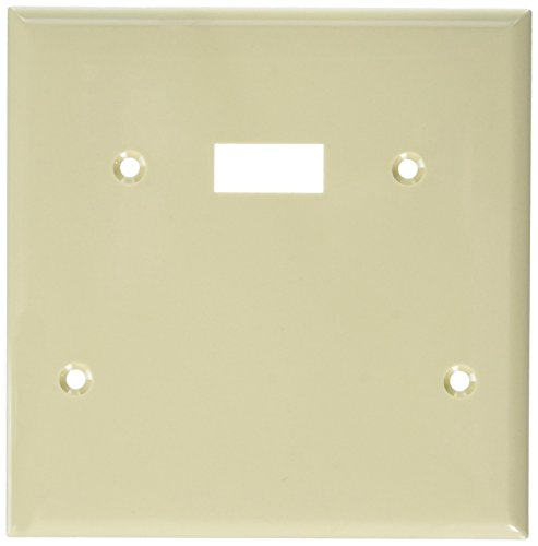 Morris 81210 Lexan Wall Plate, 2 Gang with 1 Blank, 1 Toggle, Ivory ()
