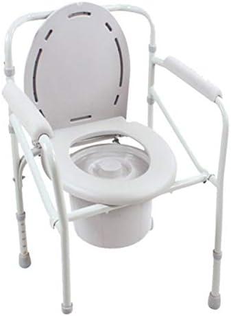 介護用ポータブルトイレ椅子 ポータブルトイレ簡易便座 折り畳み式 高さ調整可 折り畳みタイプ 椅子 高齢者 折りたたみ 防災 介護用 アズワン コンフォートトイレ椅子