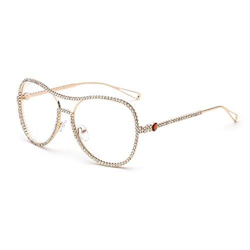 dking-classic-vintage-style-metal-frame-aviator-clear-lens-glasses-eyeglasses-gold