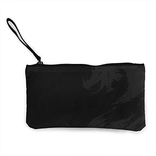 Oomato Canvas Coin Purse Dark Dragon Cosmetic Makeup Storage Wallet Clutch Purse Pencil Bag ()