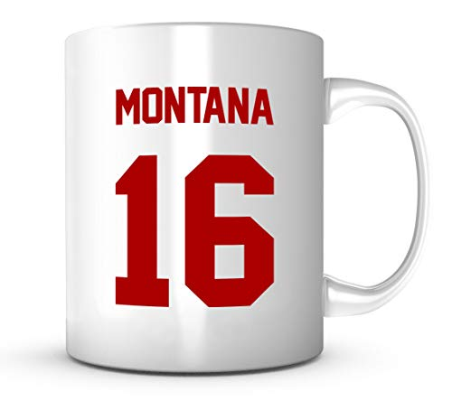 Joe Montana Mug - San Francisco Football Jersey Number Coffee Cup