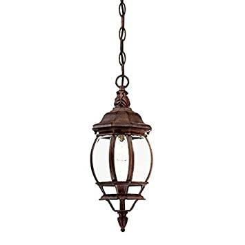 Acclaim 5056BW Chateau Collection 1-Light Outdoor Light Fixture Hanging Lantern, Burled Walnut