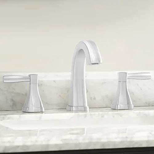 (Miseno ML641 Elysa-V Widespread Bathroom Faucet - Includes Push-Pop Drain Assembly)