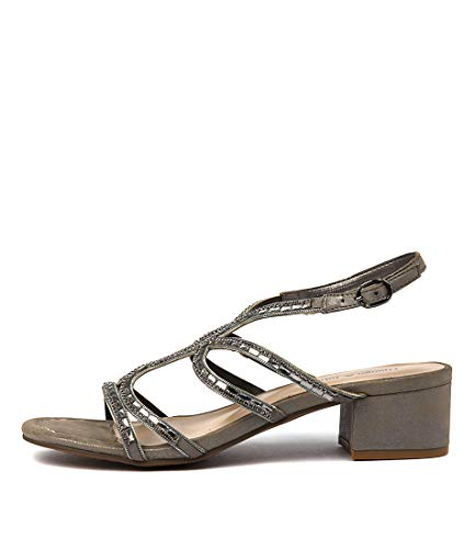 DJANGO & JULIETTE 252 Womens Shoes Heeled Sandals PEWTER SMOOTH