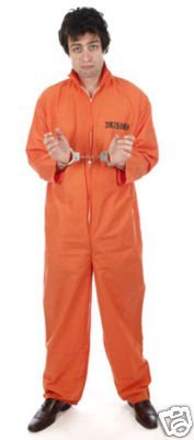 1f34b3edf469 Image Unavailable. Image not available for. Color  Classic Orange Prisoner  Overall Jumpsuit Boiler Suit ...