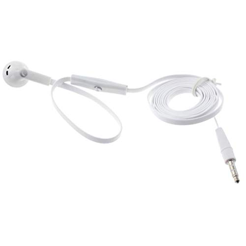 Compatible with V35 ThinQ - Flat Wired Headset Mono Hands-Fr