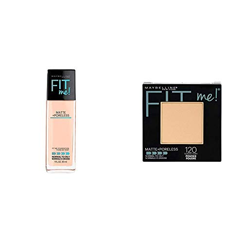 Maybelline-New-York-Fit-Me-Matte-with-Poreless-Foundation-115-Ivory-30mlMaybelline-New-York-Fit-Me-Matte-Poreless-Powder-120-Classic-Ivory-85g