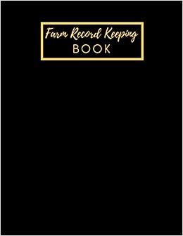 Farm management record keeping book