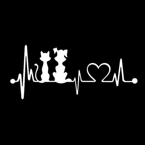 Connoworld Clearance Sale Funny Cartoon Dog Cat Heartbeat Car Styling Stickers Vehicle Window Decals Decoration