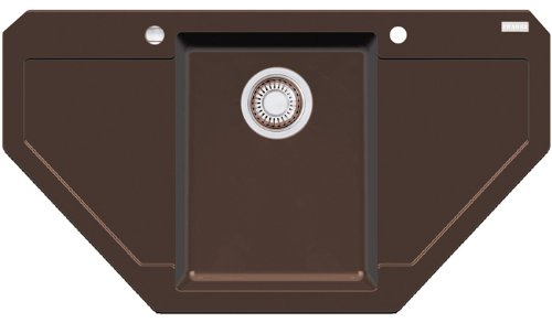 Franke Maris MRG 612-E Chocolate Granit-Spüle Eck Braun Küchenspüle Spülbecken
