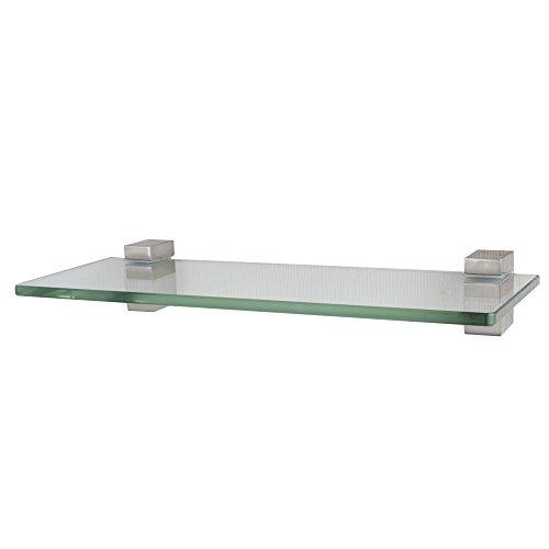 XVL 14-Inch Bathroom Glass Shelf, Brushed Nickel GS3002A