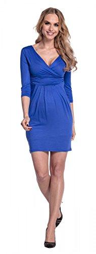 Happy Mama. Mujeres Maternidad Jersey Tulipán Vestido S-4XL 236p Azul Real