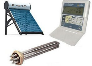 Kit calentador de agua solar