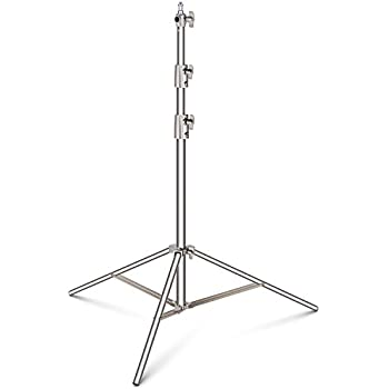 Neewer Stainless Steel Light Stand 114 inches/290 centimeters Heavy Duty with 1/4-inch to 3/8-inch Universal Adapter for Studio Softbox, Monolight and Other Photographic Equipment