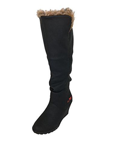 de alineaban Mujer Schwarz Botas Botines Zapatillas de de LOVENESS 4 Botas Deporte Las UFqx5np