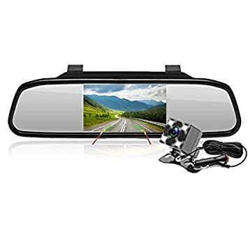 "HD KFZ Auto Rückfahrsystem 170° Rückfahrkamera 7/"" Rückspiegel Monitor Spiegel"