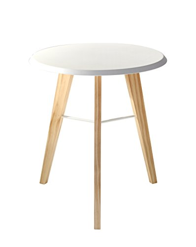 Adesso WK4620-02 Jaxon Accent Table, White/Natural (Accent Table Adesso)