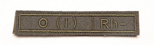 Russian army blood type patch tape insignia O neg tactical subded