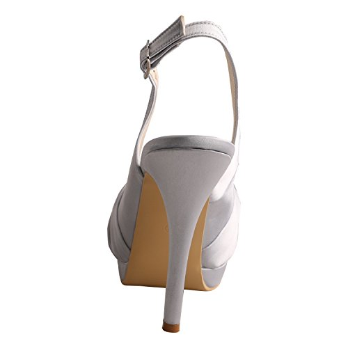 Wedding for Bride Double Toe Silver Women's Open Wedopus Sandal MW700 Platform Style Singback ZwB6qxqTH