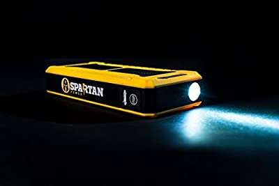 Spartan Power 900A Peak 20,000mAh Portable Car Jump Starter, Phone & Laptop Charger, Built-in LED Flashlight