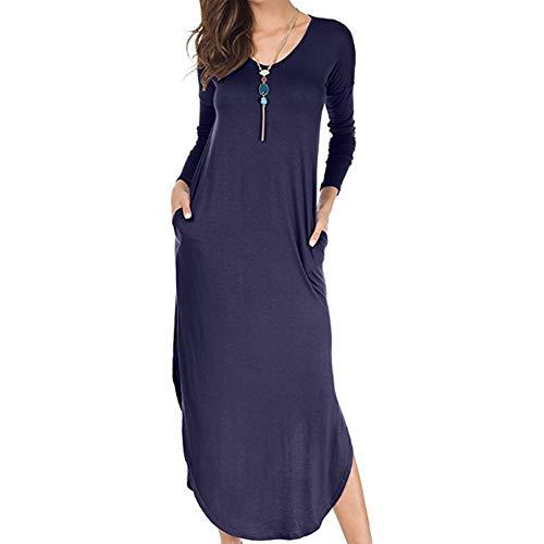 ec8bfa702ec Summer Maxi Dresses with Pockets Split Beach Cover Up Loose Casual Long  Cami Dresses Plus Size