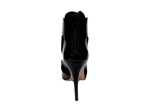 Buffalo Damen Pumps Kid Suede Patent Leder und Lack durchbrochen 15P51-4 -01 schwarz Schwarz
