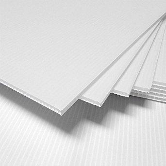 Amazoncom 24 X 36 Coroplast Sign 4mm Blank White Plastic