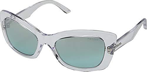 Prada Women's 0PR 19MS Transparent/Light Azure Silver Gradient One Size