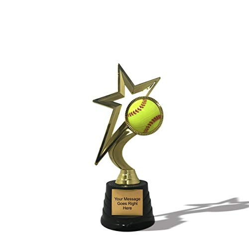 (Trophy Crunch - Softball Shooting Star Trophy Award - 15+ Options)